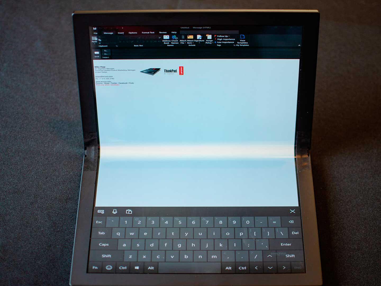 ThinkPad X1, el primer ordenador con pantalla plegable de Lenovo